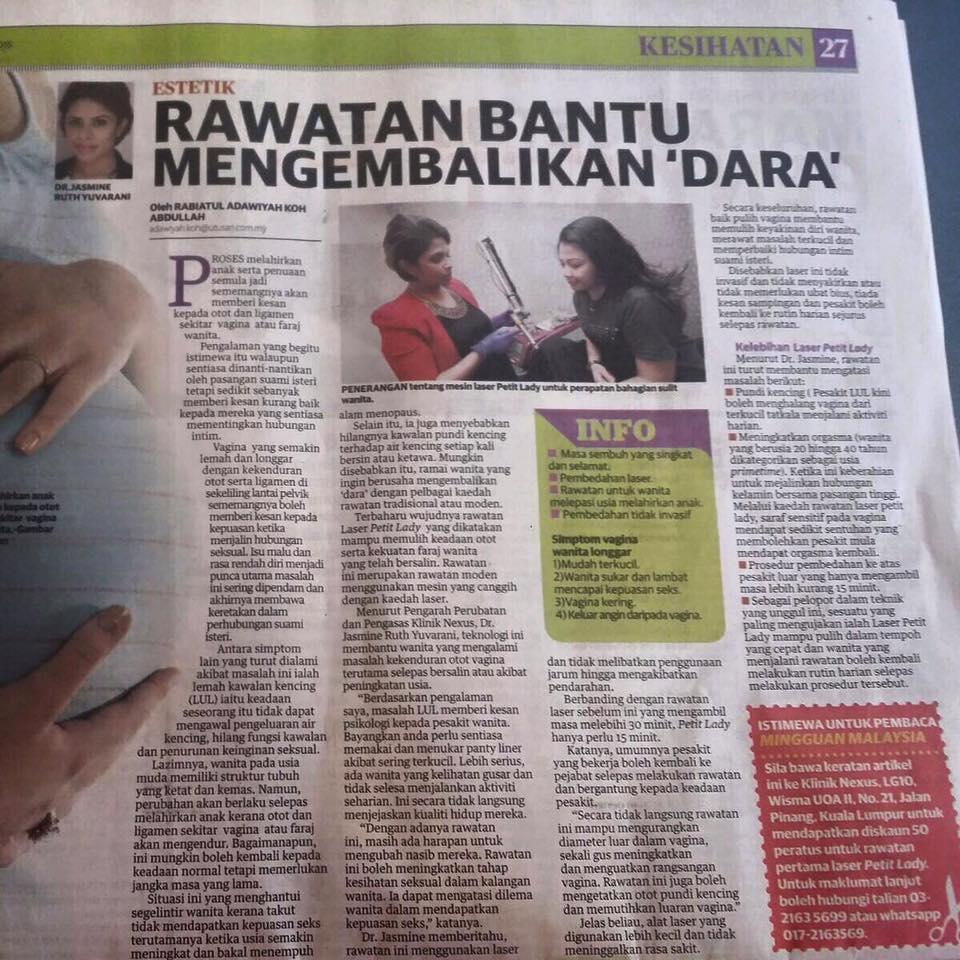 Berita Harian_Vaginal Tighten_Sept15